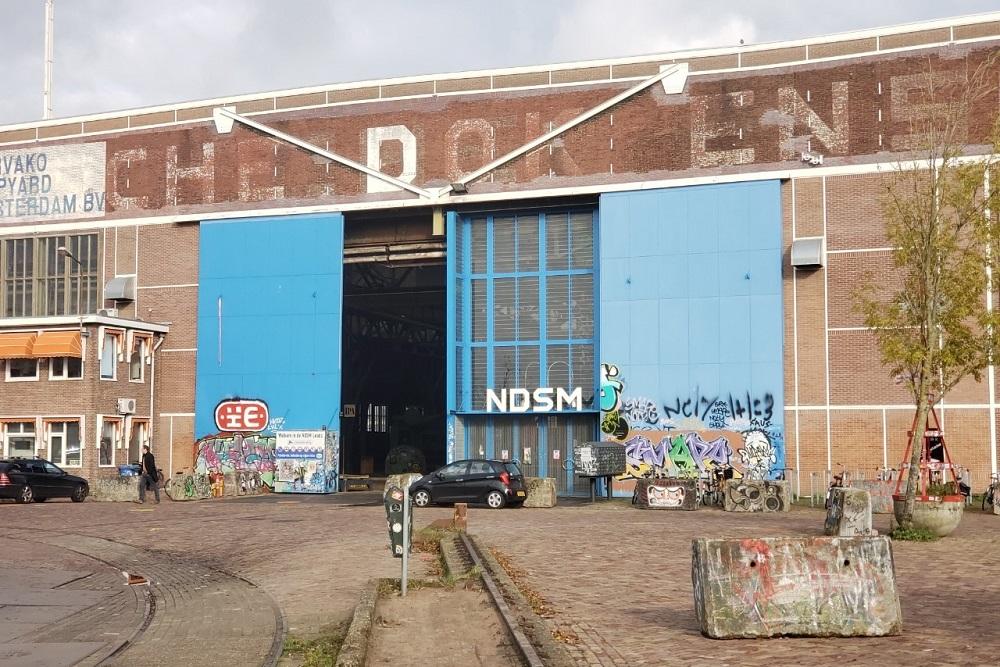 旧造船所をアートスペースにしたクリエイティブな港湾地区「NDSM」