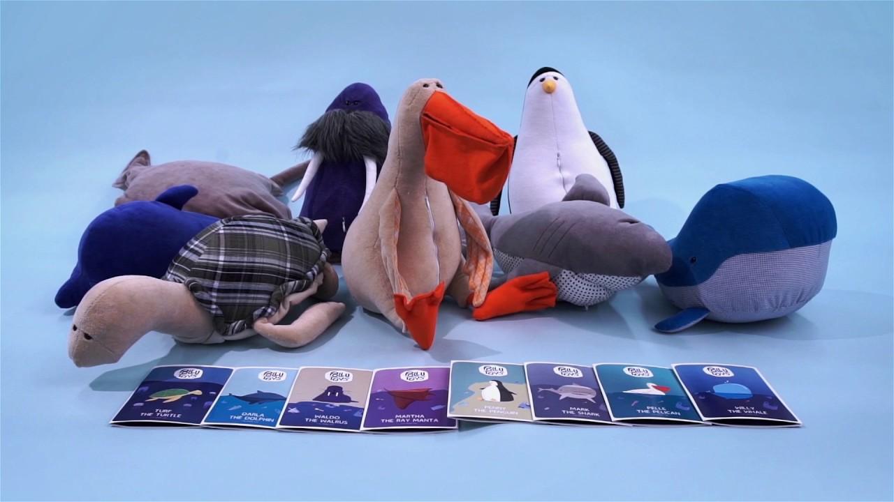 子供たちに海を守る大切さを教えてくれるぬいぐるみ「Pollutoys」
