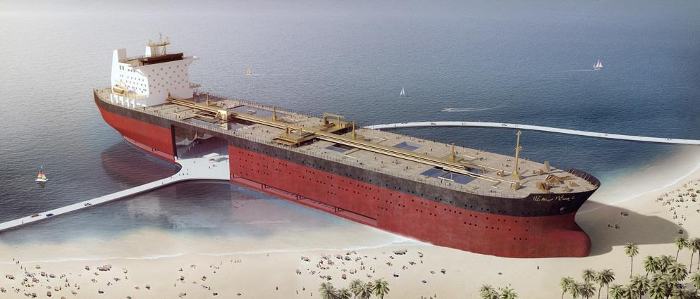 タンカーを複合型エンターテインメント施設に再開発