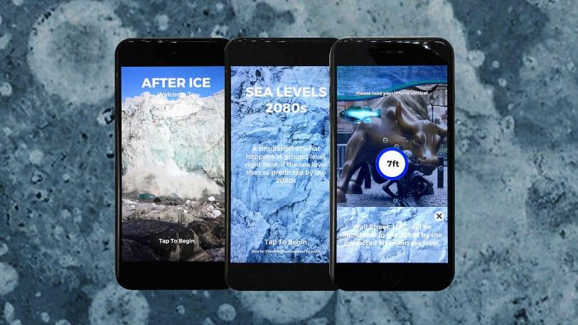 温暖化を体感するAfter Iceの画面