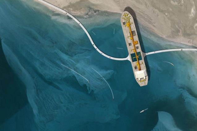 石油産業の変遷を象徴する、タンカーを再利用したアラブの新アイコン