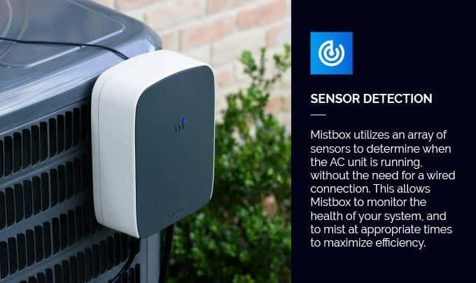 霧の力でエアコンの消費電力を削減する「Mistbox」