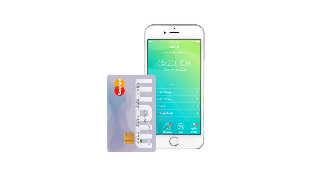 moniカードと携帯アプリ