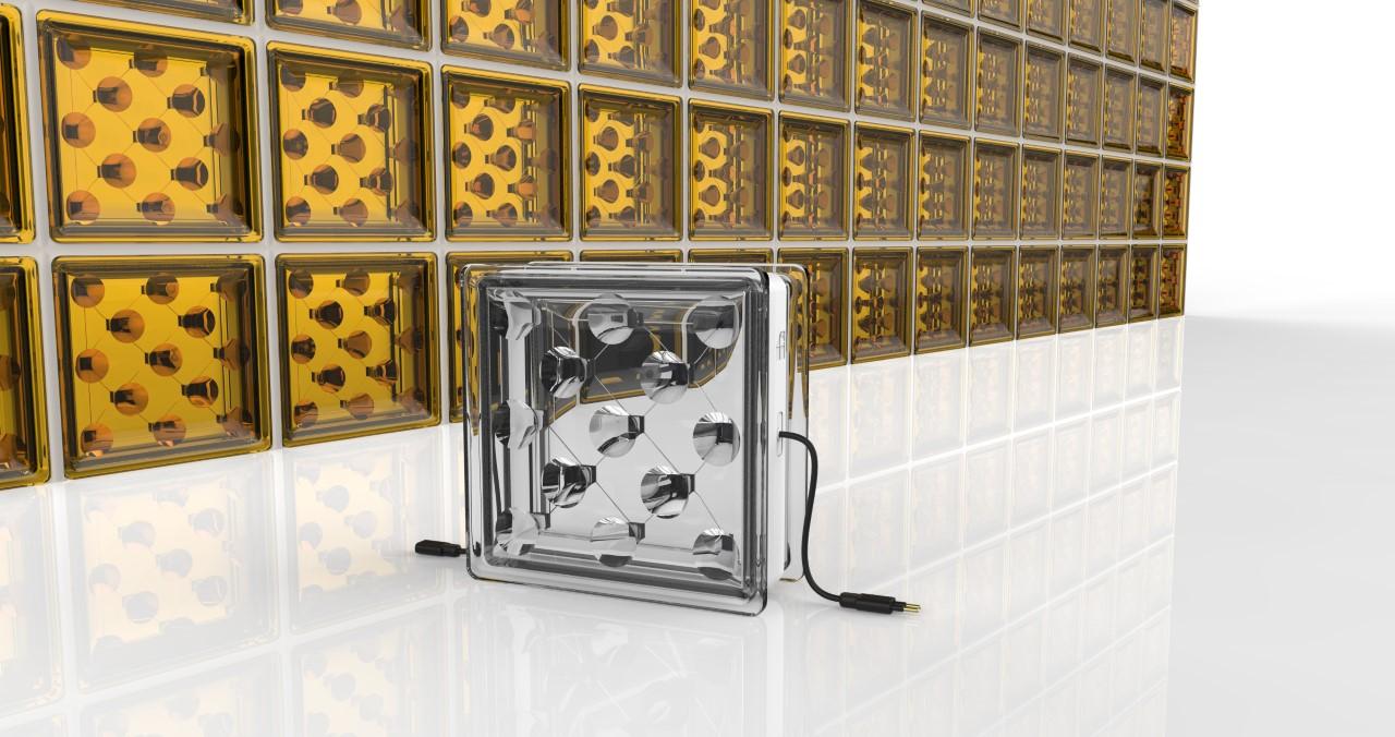 太陽光から電力を生み出すブロック