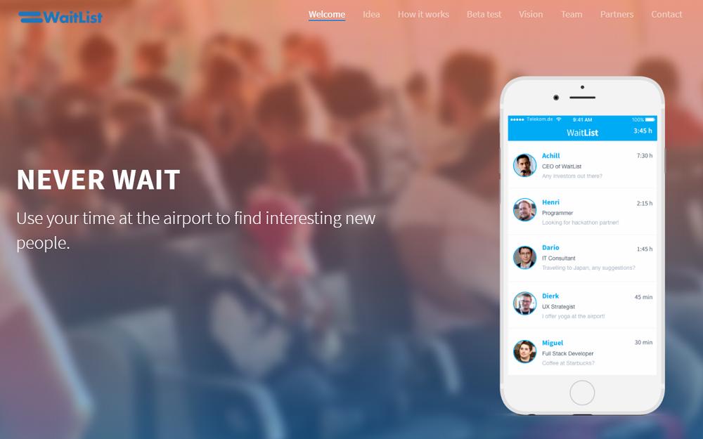 空港での出会いをつくるアプリ
