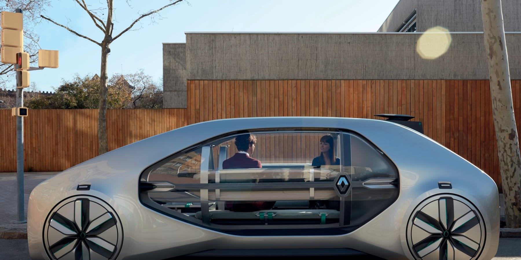 ルノーが提案する、未来の都市モビリティを創造する電気自動運転車「EZ-GO」
