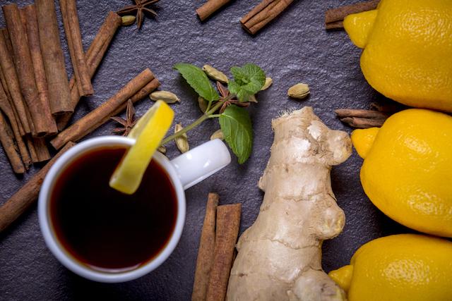 レモンと生姜と紅茶とスパイス