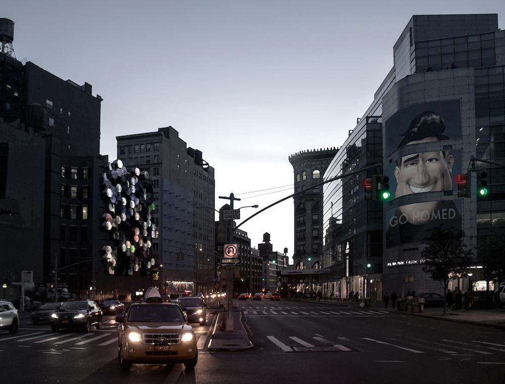 ニューヨークの街中にあるシェルター