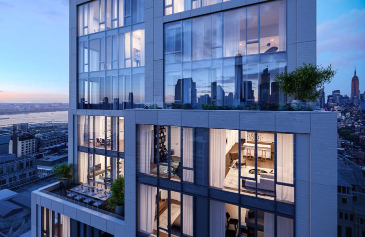 大気汚染をやわらげるニューヨークのビル