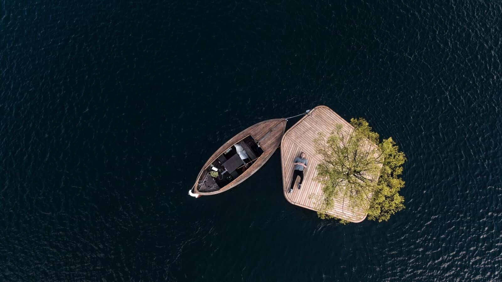上から見た島