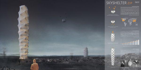 自然災害のシェルターに変身する高層ビル