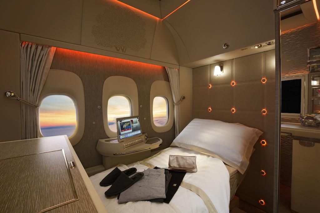 エミレーツ航空の窓のない機体
