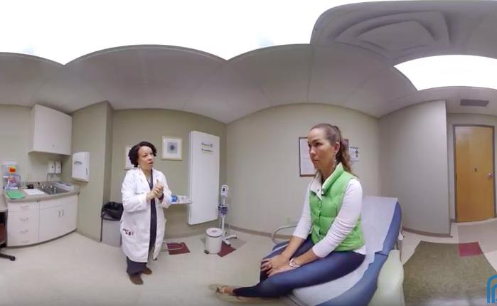 中絶する女性の視点を体験するVR映像
