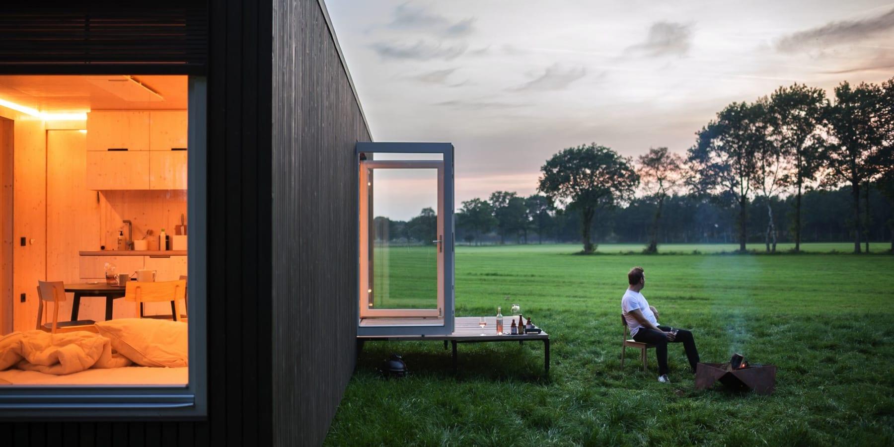 ベルギーの環境配慮型オフグリットキャビン「Slow Cabin」