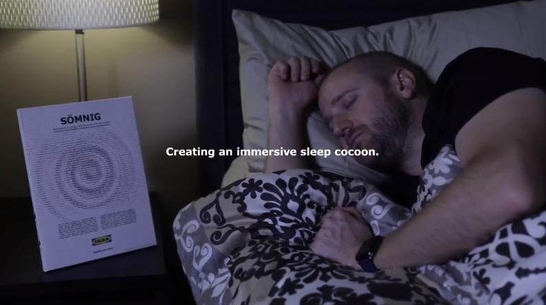 睡眠の質をあげるイケアの香る広告