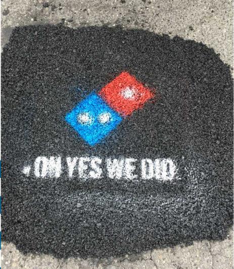 ドミノピザの宣伝と街づくりを備えた取り組み