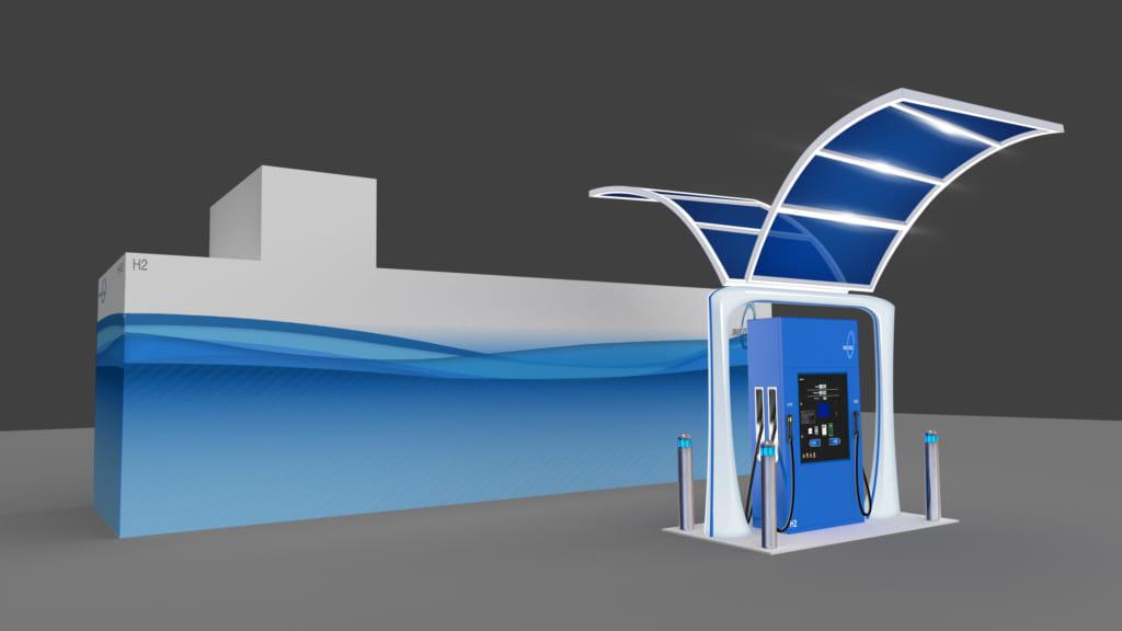 安全な液体水素ステーション