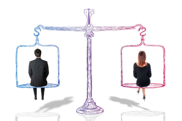 男女同権の図