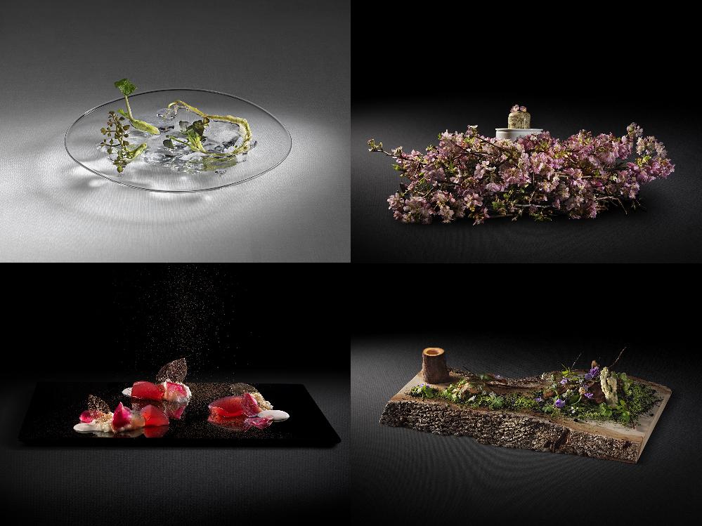成澤氏の生み出した美しい料理の数々