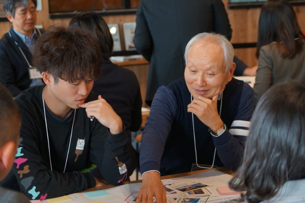 千葉市に関わる参加者がアイデアを出しあう