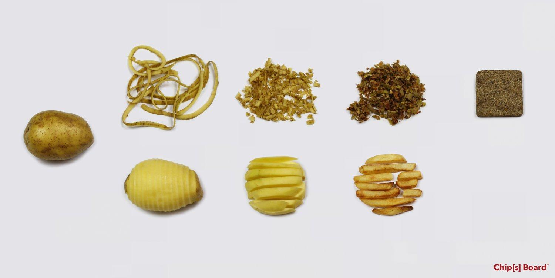 廃棄予定のジャガイモからできた建築資材「Chip[s] Board」