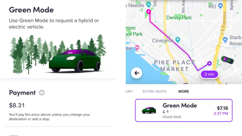 Lyftのグリーンモード