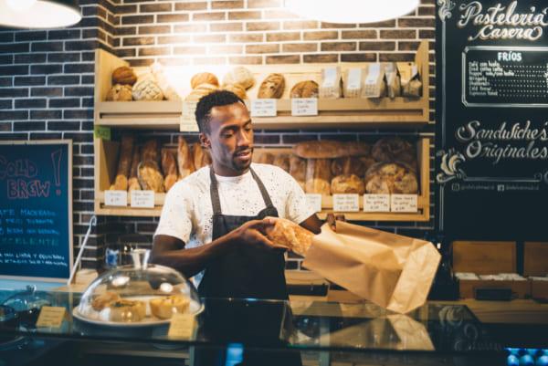 地元のパン屋