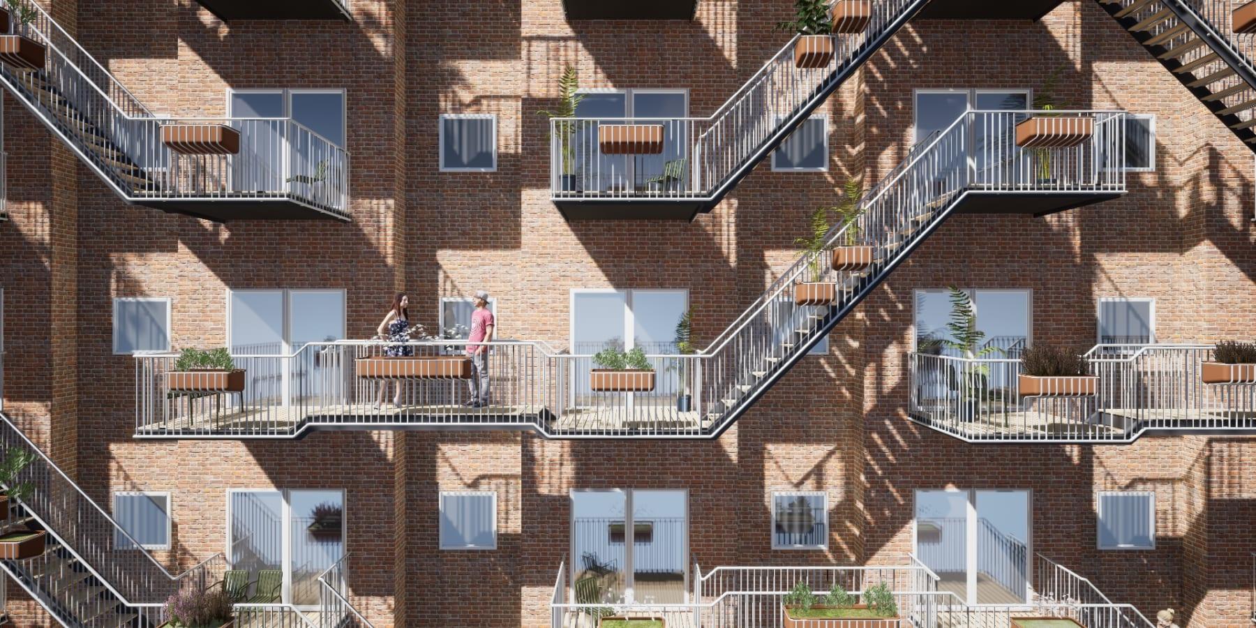 都市の孤独解消に。オランダのシェアするバルコニー「Social Balconies」