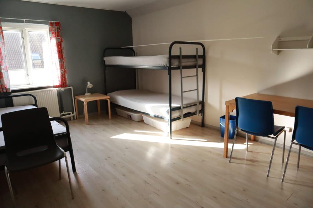 ロラン島内に新しく開設予定のフォルケホイスコーレの寮の一室