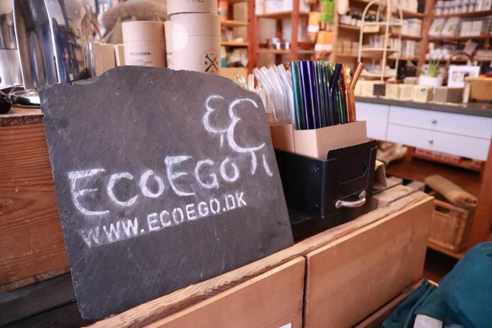 Eco Egoロゴと店内