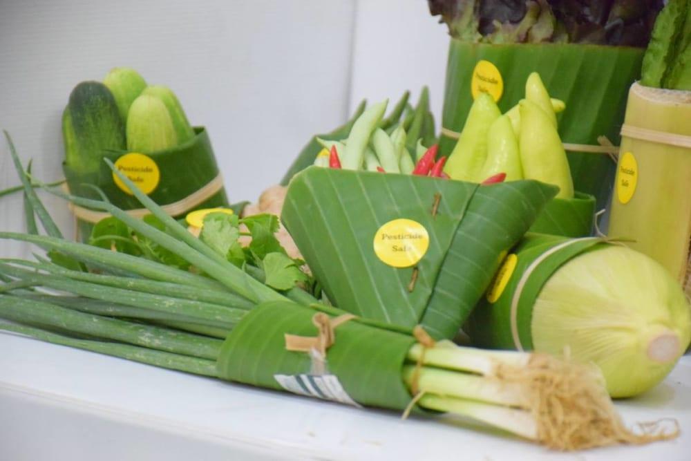 バナナの葉包装