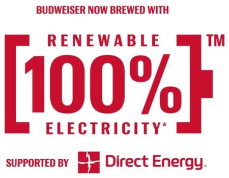 バドワイザーの100%再生可能電力