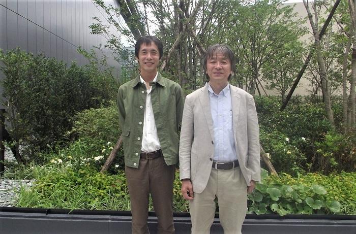 左:服部雄一郎さん 右:高田秀重教授