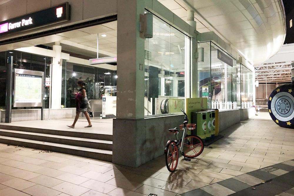 街中に放置される自転車
