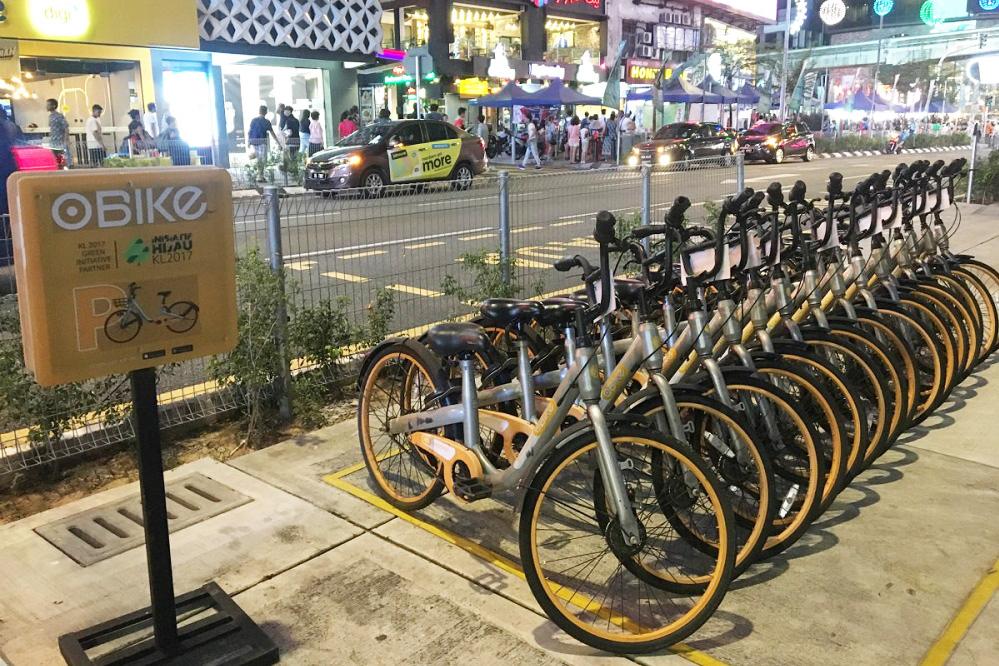 シェアサイクル専用の駐輪スペース