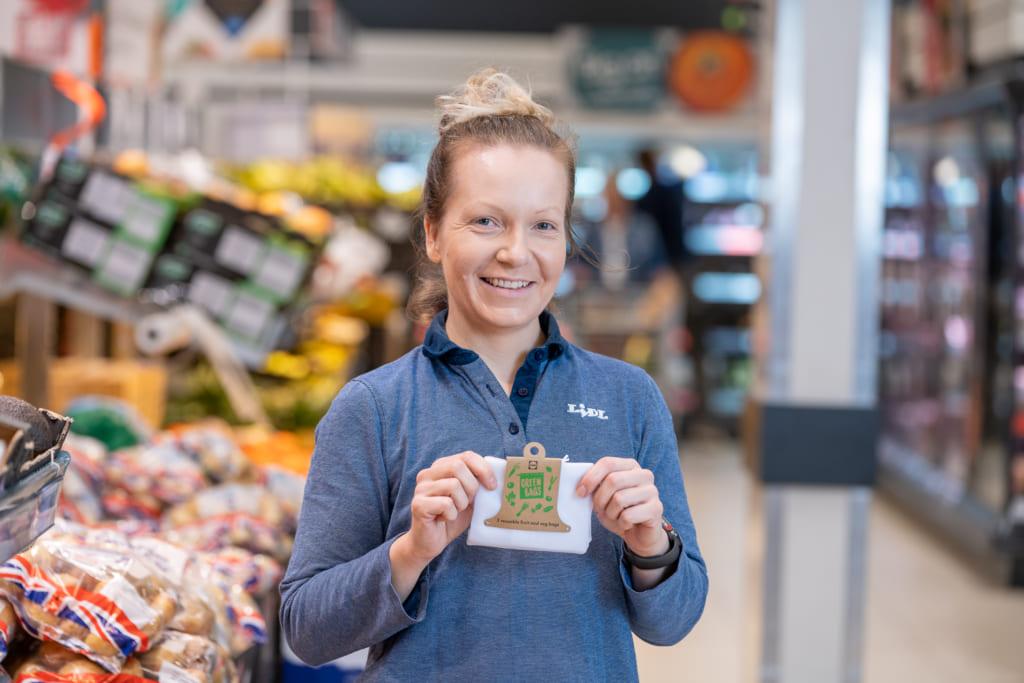 バラ野菜用プラスチック袋の代替品、再利用可能なネット袋「Green Bag」
