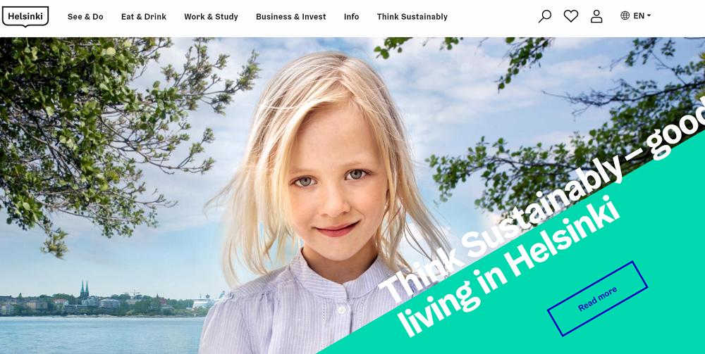 Think Sustainabilityのウェブサイト