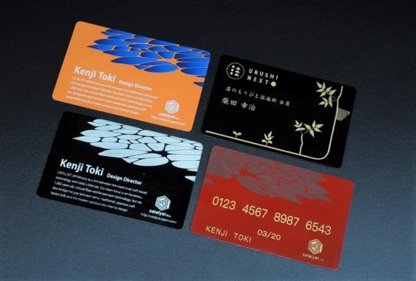 美しい色合いの乾漆カード