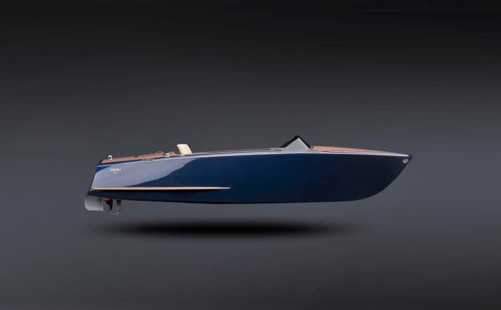 クラシックなデザインの電動ボート「Tahoe-14 Electric Boat」
