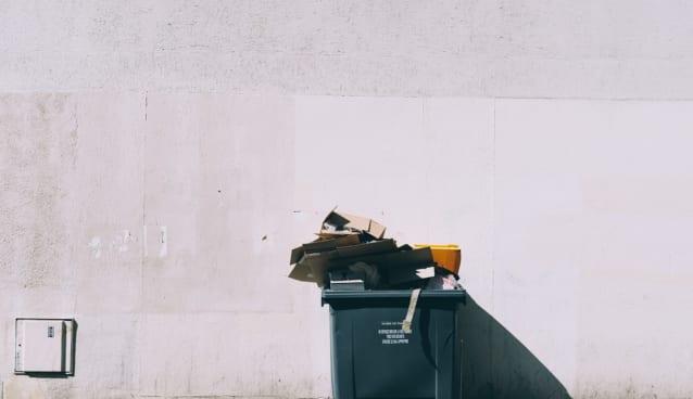 ごみ箱撤去