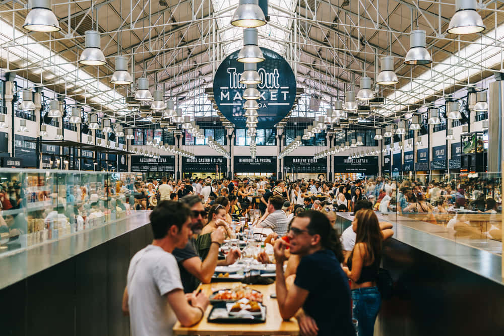 リスボンの観光名所 Time out Market