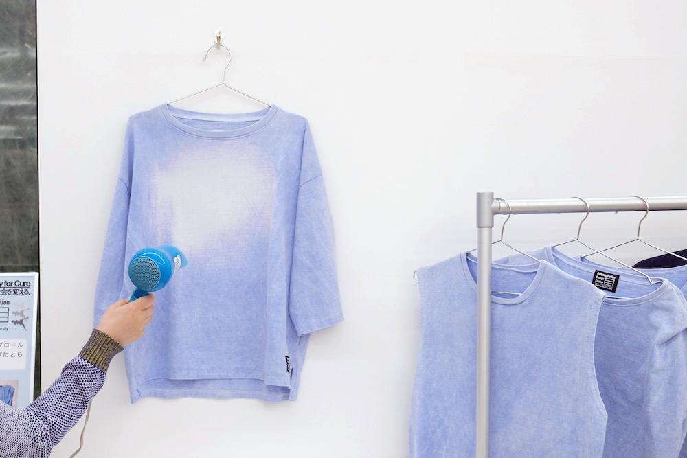 熱で色が変わるTシャツ