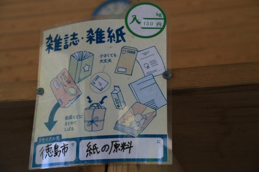 ゴミステーションの張り紙