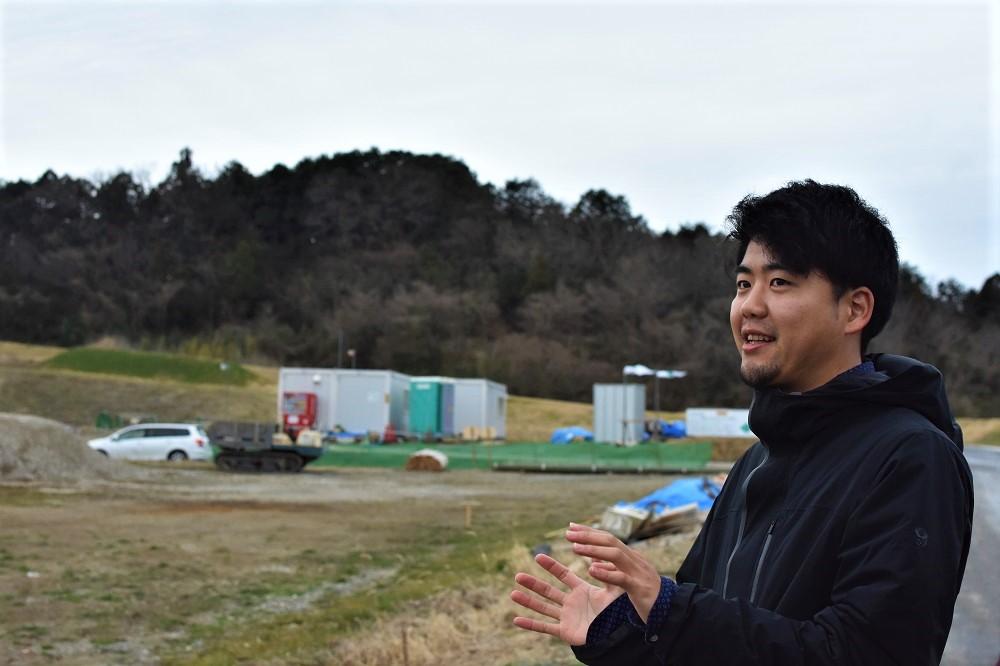 KURKKU FIELDSを案内していただいた 新井洸真氏