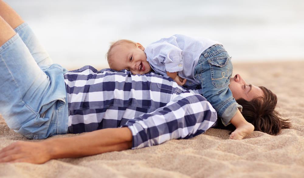 子供とお父さん