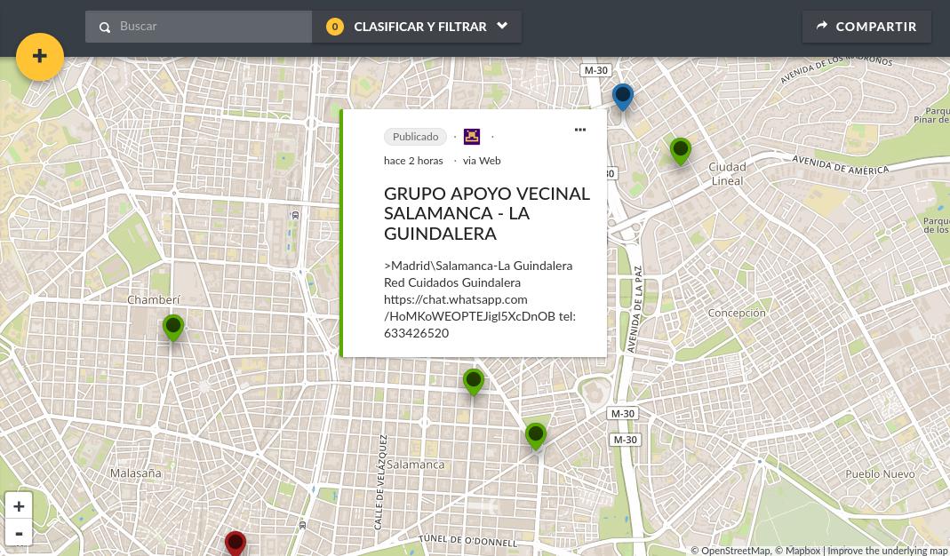 フレナ・ラ・クルヴァのオンラインマップ