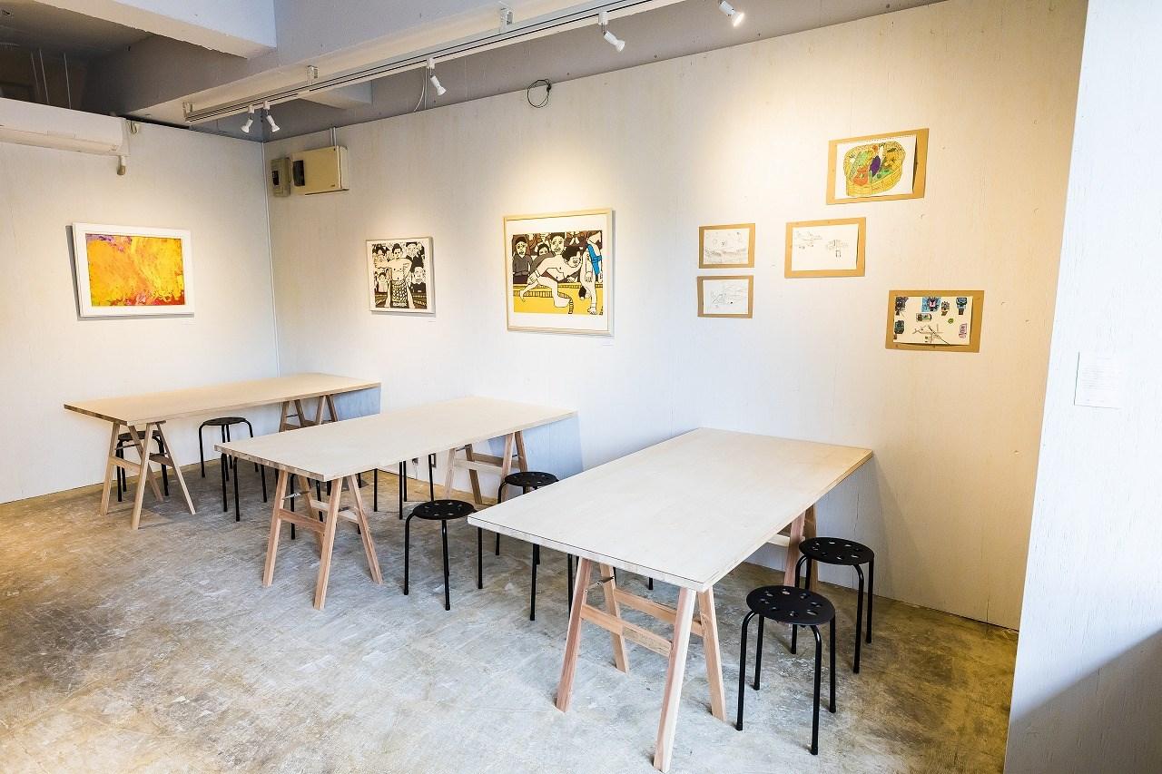 えんじゅくギャラリー:障がい者作品展示スペース