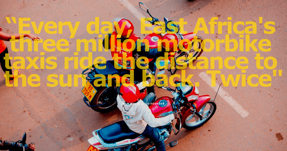 ルワンダの電気バイク