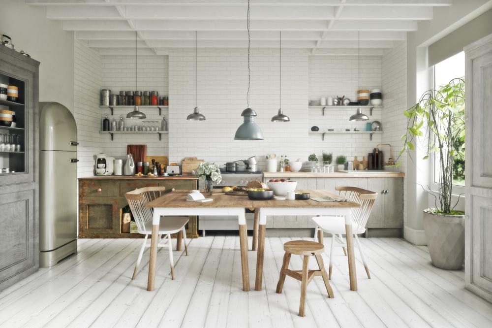 北欧インテリアのキッチン