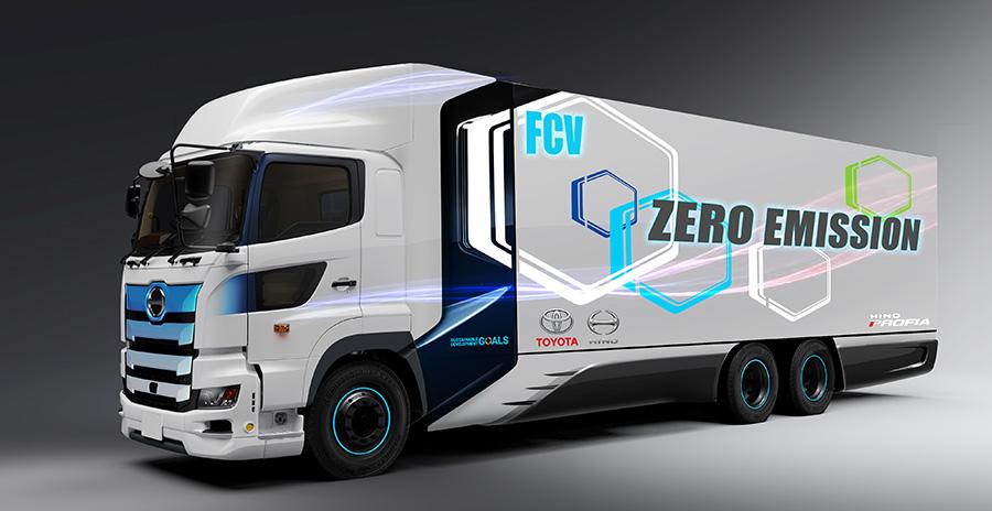 トヨタと日野、水素で動く燃料電池大型トラックを共同開発